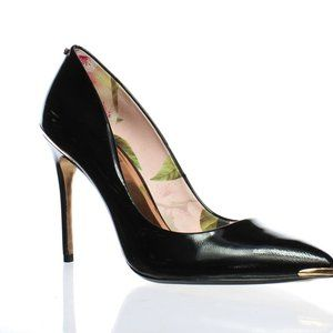 Ted Baker Womens Kaawa 2 Black Leather Pumps US 8